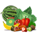 A picture of fruits and vegetables as an example of what might be considered compost
